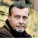 Massimo Carlotto, Italian author of the Aligator mystery novels set in the Veneto, Italy.
